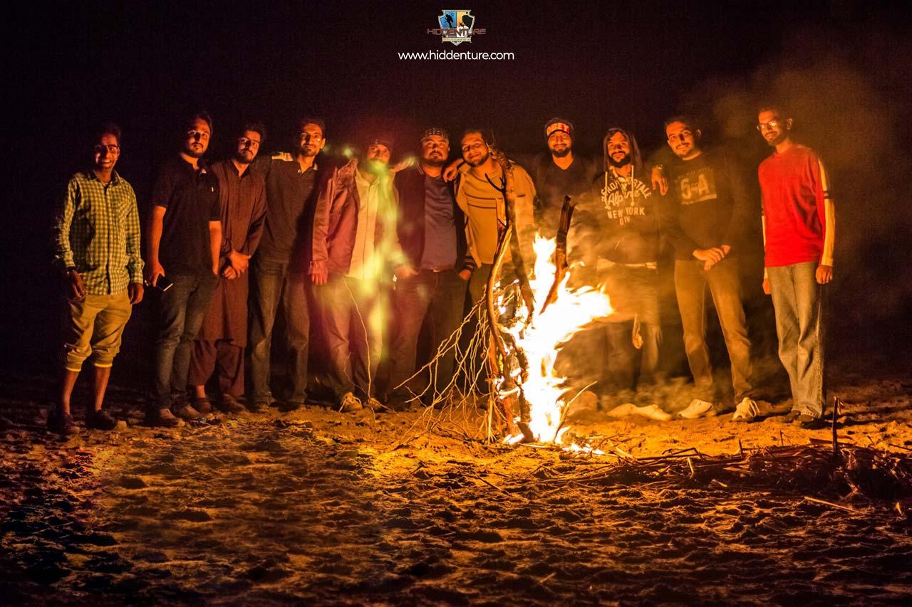 Bonfire at Kund Malir Beach