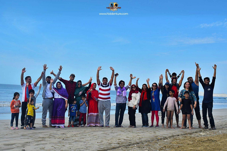 Group at Ormara Beach